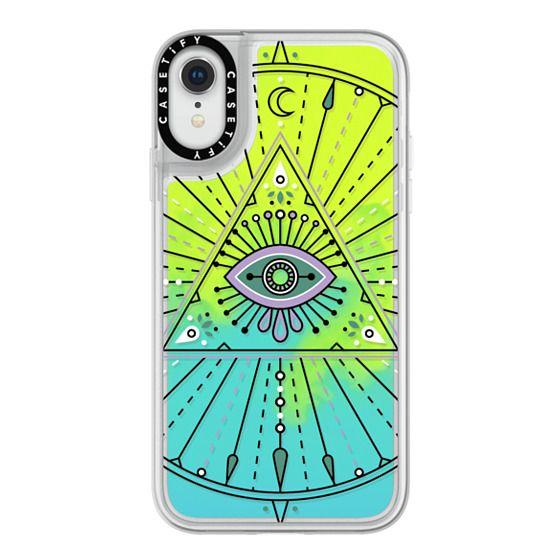 iPhone XR Cases - Evil Eye Mandala – Black on Transparent