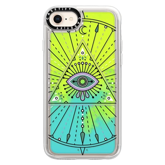 iPhone 8 Cases - Evil Eye Mandala – Black on Transparent