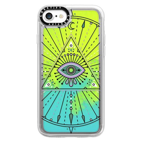iPhone 7 Cases - Evil Eye Mandala – Black on Transparent