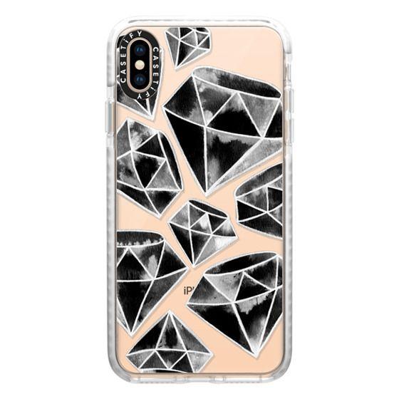 iPhone XS Max Cases - Tattoo Black Diamonds