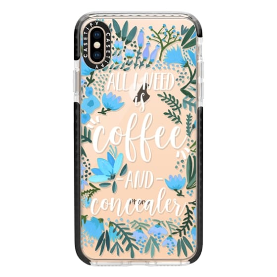 iPhone XS Max Cases - Coffee & Concealer by CatCoq