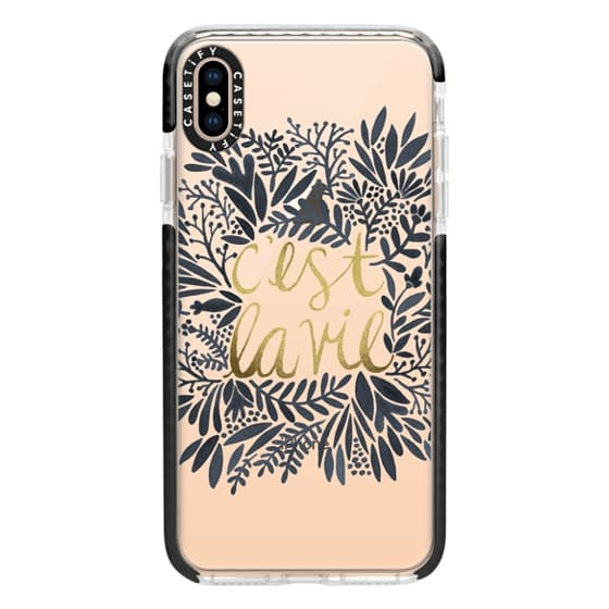 iPhone XS Max Cases - That's Life (Grey & Gold)