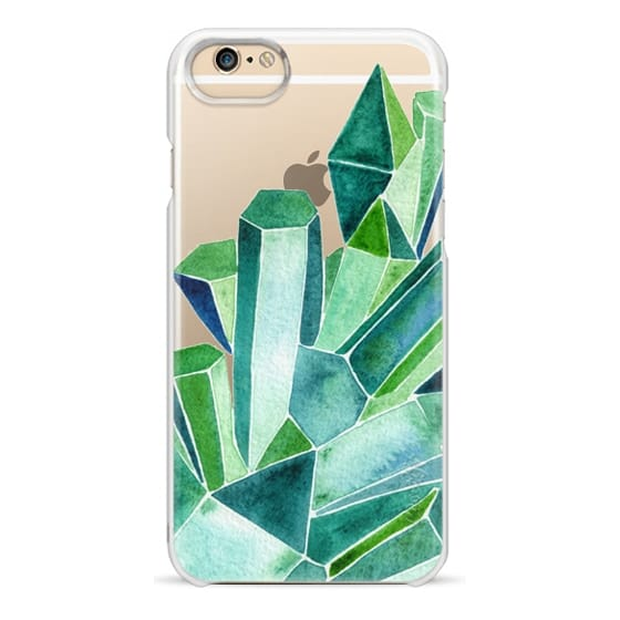 iPhone 6 Cases - Watercolor Emeralds