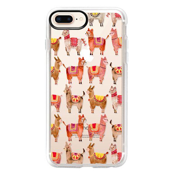 iPhone 8 Plus Cases - Alpacas – Transparent