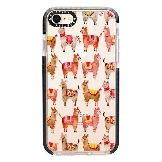 iPhone 8 Cases - Alpacas – Transparent
