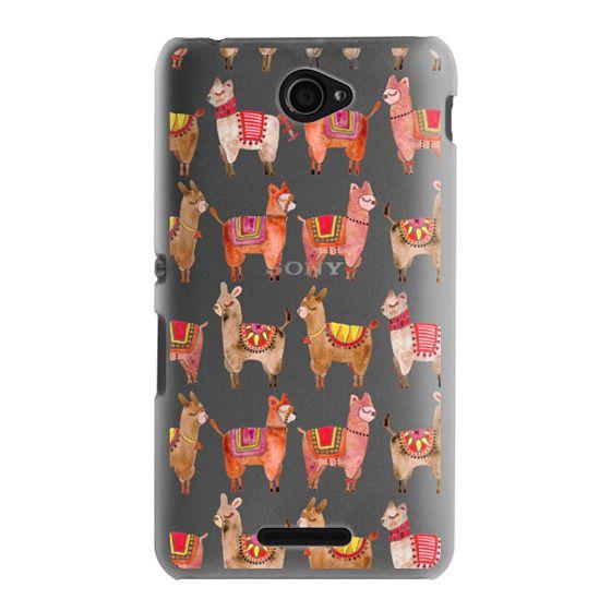 Sony E4 Cases - Alpacas – Transparent