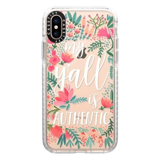 iPhone XS Cases - My Y'all is Authentic by CatCoq