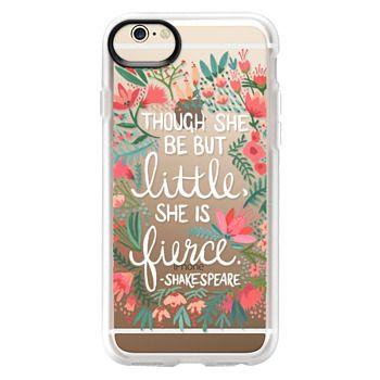 Grip iPhone 6 Case - Little & Fierce – Transparent