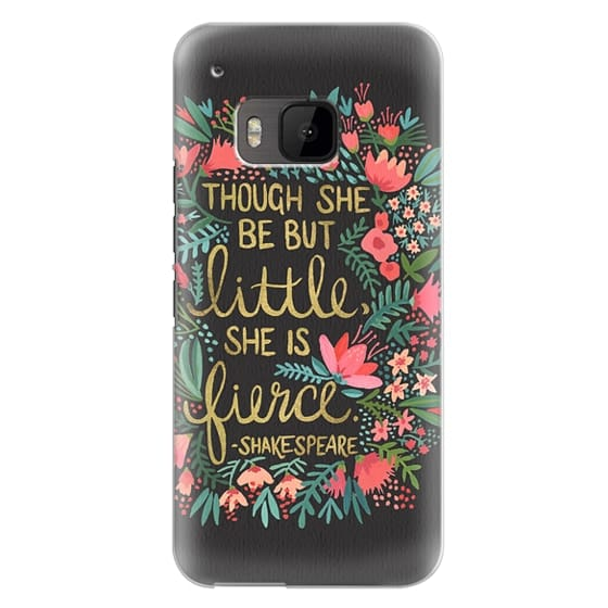 Htc One M9 Cases - Little & Fierce on Charcoal