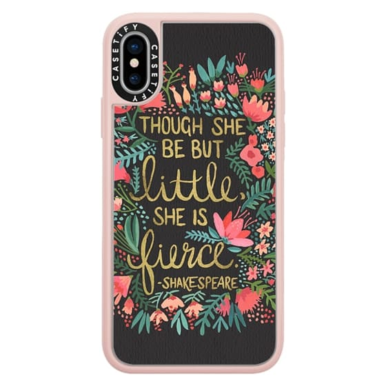 iPhone X Cases - Little & Fierce on Charcoal