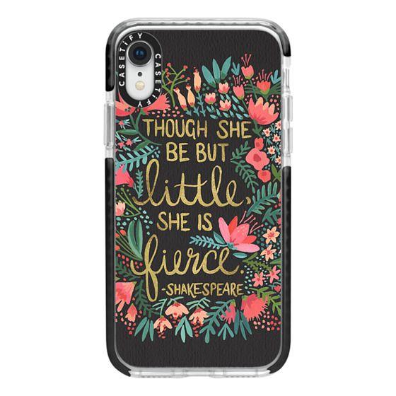 iPhone XR Cases - Little & Fierce on Charcoal