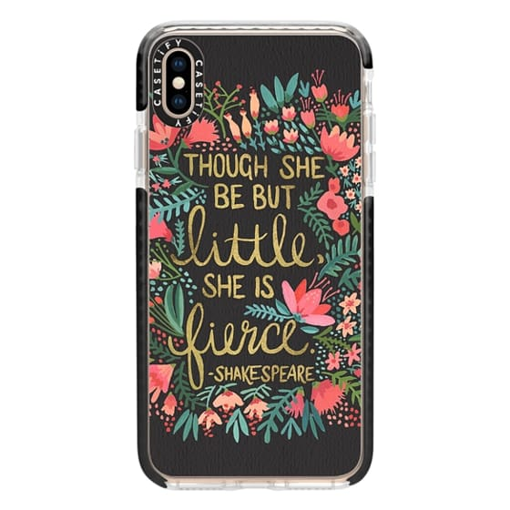 iPhone XS Max Cases - Little & Fierce on Charcoal