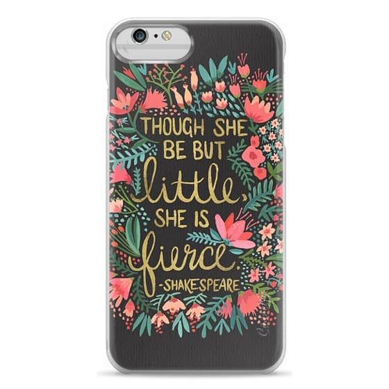 iPhone 6 Plus Cases - Little & Fierce on Charcoal