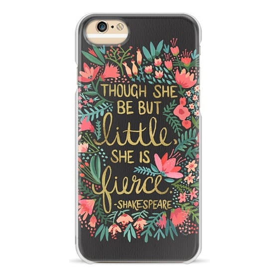 iPhone 6 Cases - Little & Fierce on Charcoal