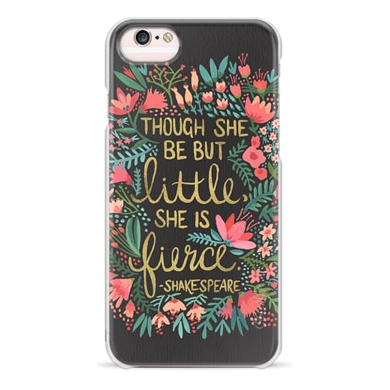 iPhone 6s Cases - Little & Fierce on Charcoal