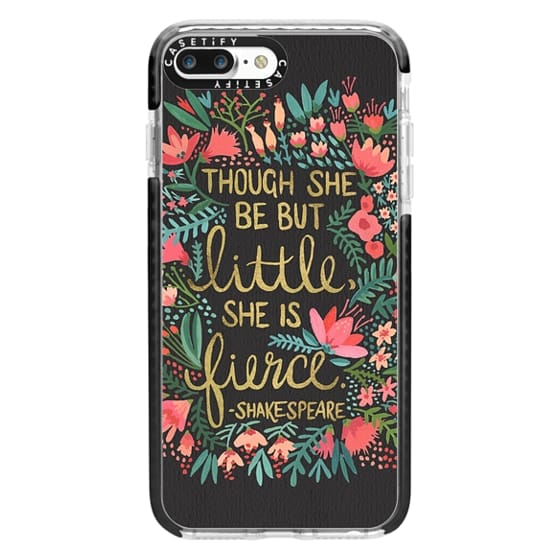iPhone 7 Plus Cases - Little & Fierce on Charcoal