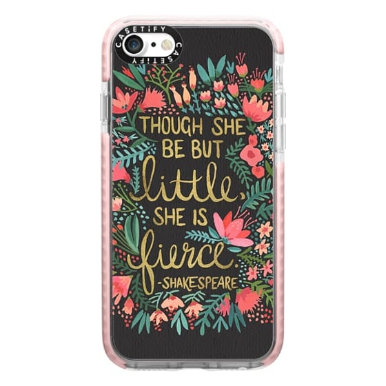 iPhone 7 Cases - Little & Fierce on Charcoal