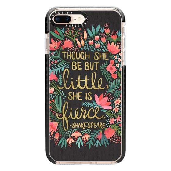 iPhone 8 Plus Cases - Little & Fierce on Charcoal