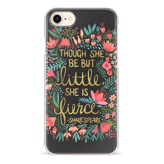 iPhone 8 Cases - Little & Fierce on Charcoal