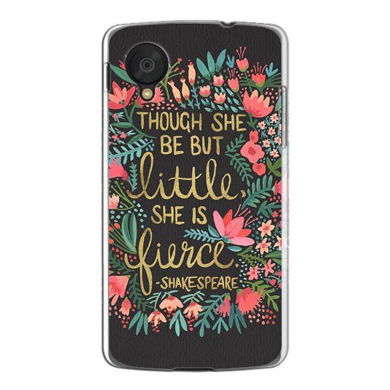 Nexus 5 Cases - Little & Fierce on Charcoal