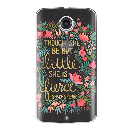 Nexus 6 Cases - Little & Fierce on Charcoal