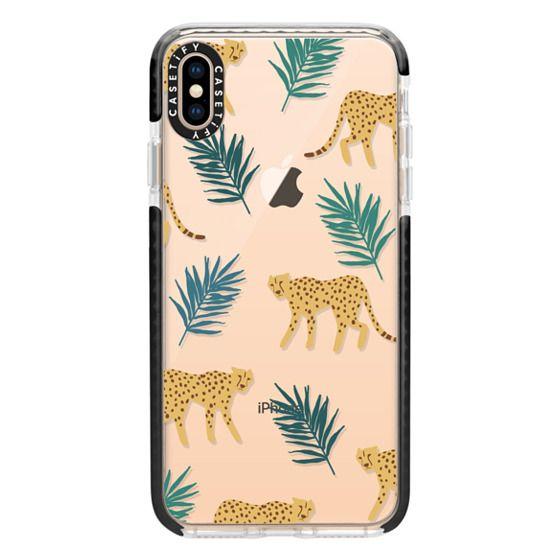 iPhone XS Max Cases - Cheetah Palm Print