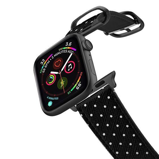 Apple Watch 38mm Bands - MINI POLKA DOTS - BLACK