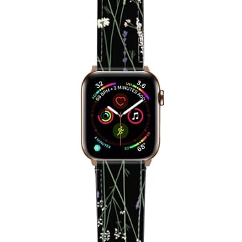 Apple Watch Band  - Gigi Garden Florals - Black