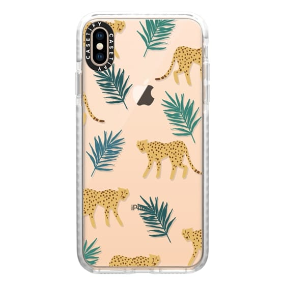 iPhone XS Max Cases - Cheetah Palm Print
