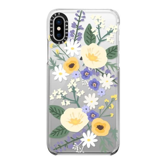 iPhone X Cases - VERONICA VIOLET FLORAL MIX