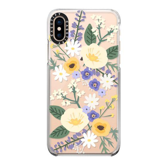 iPhone XS Cases - VERONICA VIOLET FLORAL MIX