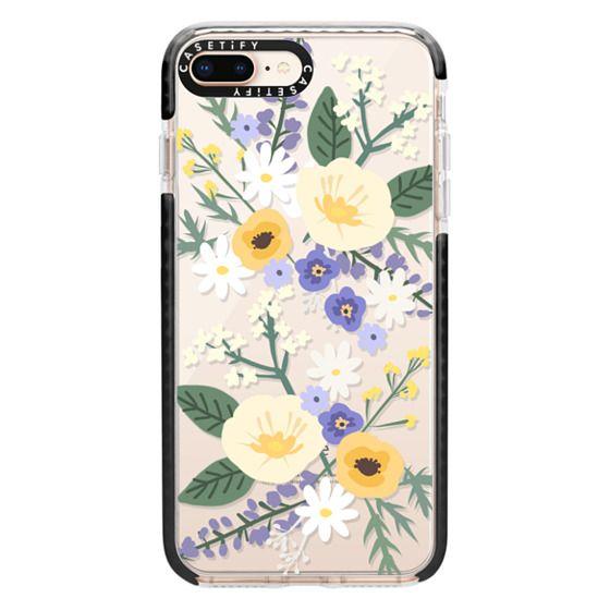 iPhone 8 Plus Cases - VERONICA VIOLET FLORAL MIX