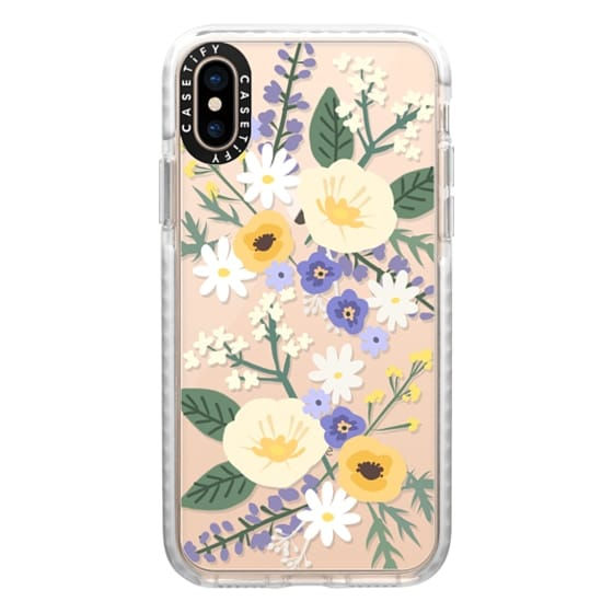 iPhone XS Cases - VERONICA VIOLET FLORAL MIX