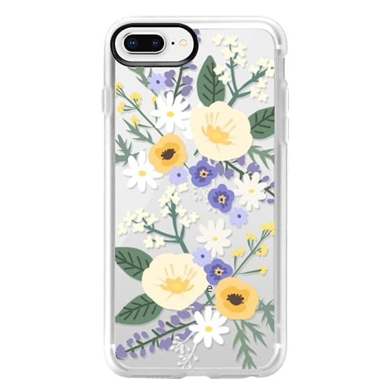 iPhone 8 Plus Cases - VERONICA VIOLET FLORAL MIX