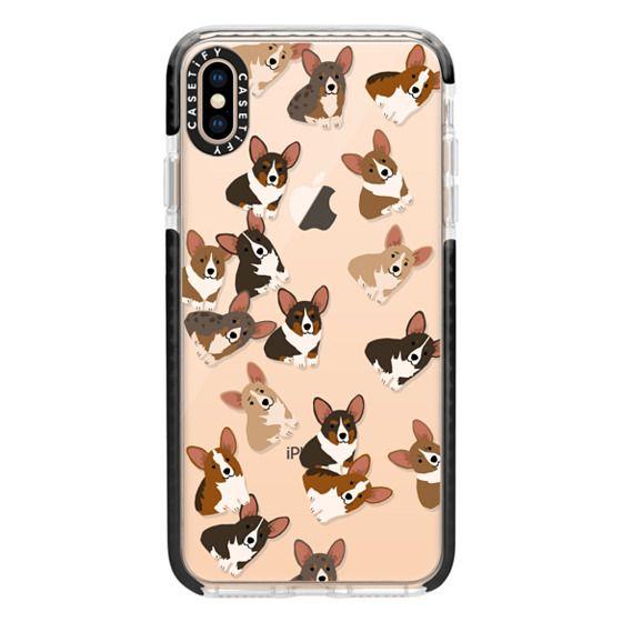 iPhone XS Max Cases - Corgi Jumble