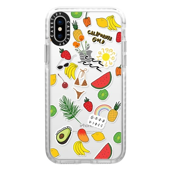 iPhone X Cases - SUMMER HEAT STICKER CASE