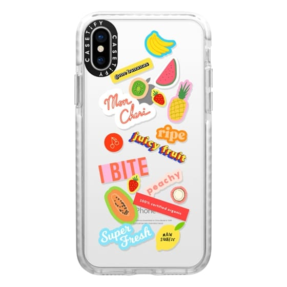 iPhone X Cases - Fruitty Tutty Stickeres