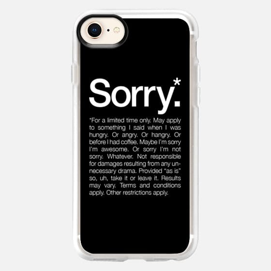 Sorry for a limited time Black - Snap Case