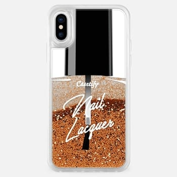 iPhone X Case Glitter Nail Lacquer