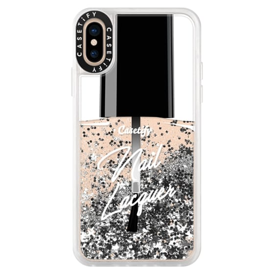 iPhone XS Cases - Glitter Nail Lacquer