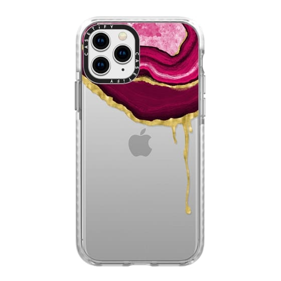 iPhone 11 Pro Cases - Pink Dripping Agate