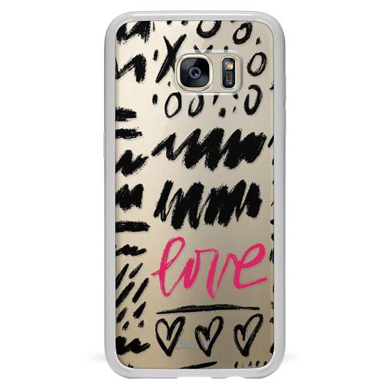 Galaxy S7 Edge 케이스 - Love Scribbles