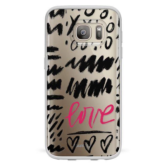 Galaxy S7 Funda - Love Scribbles