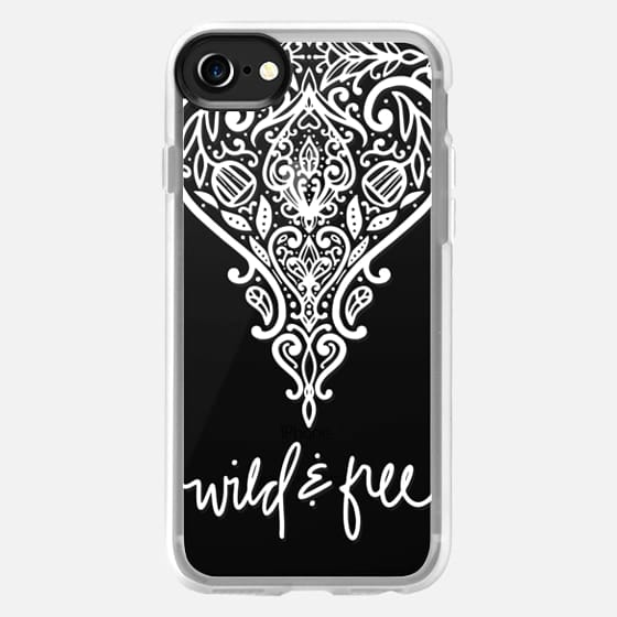 wild and free (white) - Classic Grip Case