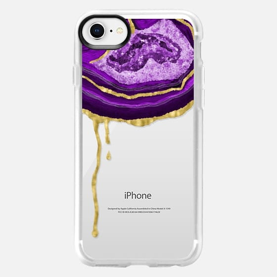 Amethyst Dripping Agate - Snap Case