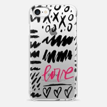 iPhone 7 Case Love Scribbles