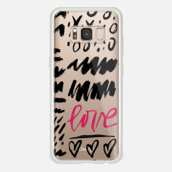 Galaxy S8 Coque - Love Scribbles