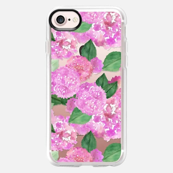 Pink Watercolor Hydrangeas - Classic Grip Case