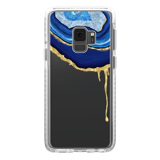 Samsung Galaxy S9 Cases - Sapphire Dripping Agate 02