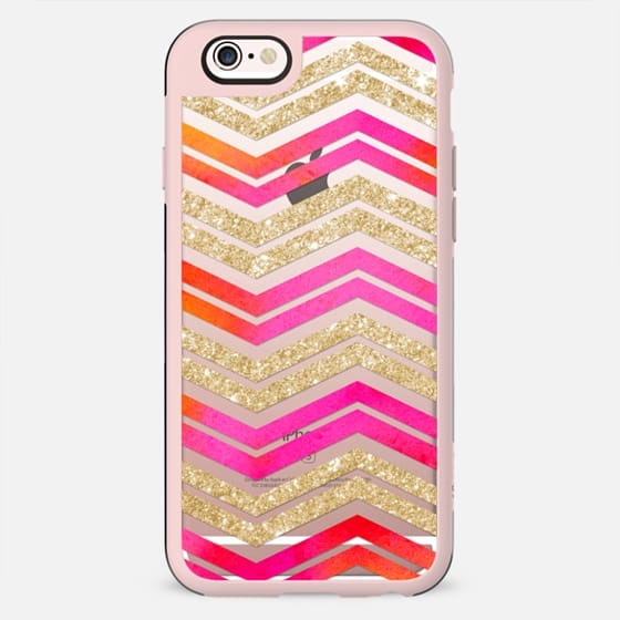 Watercolor Glitter Chevron on Wood 04 - New Standard Case